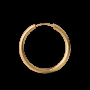 Medium Hoops, 18-karat gold