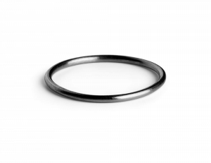 Simple Ring, rhodiniertem Sterlingsilber