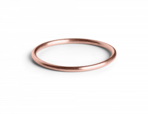 Simple Ring, rosaförgyllt sterling silver
