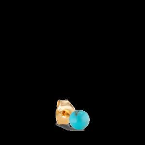 Splash Bead Stud Turquoise, forgylt sølv