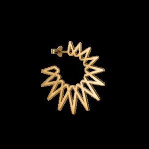 Sun Earring, forgylt sterlingsølv