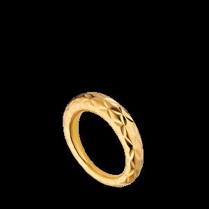 Big Impression Ring, forgylt sterlingsølv