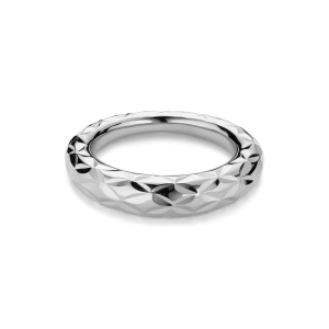 Big Impression Ring, sterling silver