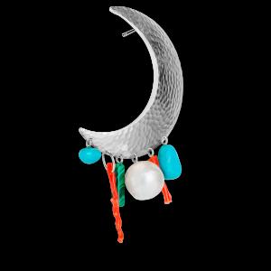 Big Moon Earring, sterling sølv