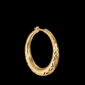 Big Rhombus Earring, vergoldetem Sterlingsilber