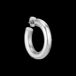 Shiny Chunky Hoop, silver