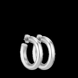 Chunky Hoop | Blank sølv