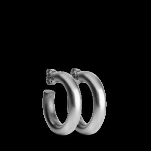 Chunky Hoop | Mat sølv