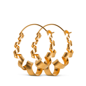 Curly Hoops | Stor | Mat forgyldt
