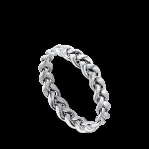 Flet Ring | Mellem | Mat sølv