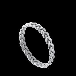 Flet Ring | Lille | Mat sølv