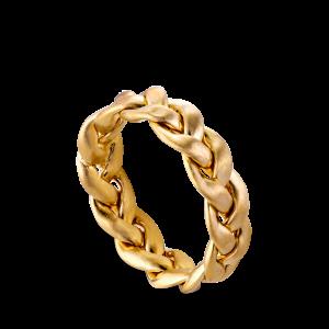 Flet Ring | Stor | Mat forgyldt