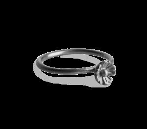 Small Flower Ring, rhodineret sterlingsølv