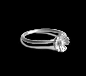 Blomster Ring | Stor | Sølv