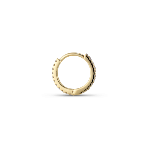 Tiny diamond hoops, 18-carat gold, 0,066 ct.