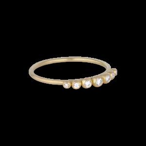 Big Diadem Ring, 18-carat gold, 0,085 ct.