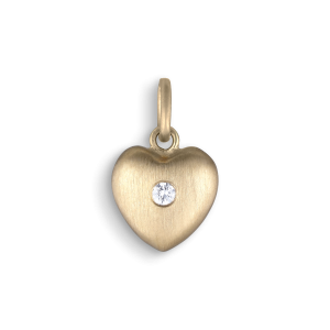 Heart pendant, 18-carat gold, 0.02 ct. diamond