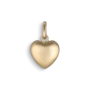Big heart pendant, 18 karat gull