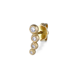 Ear stud, 18-carat gold, white 4 white brill. 0.07 ct. diamonds