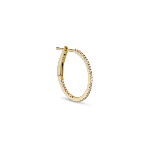 Mini diamond hoop, 18 karat-gull