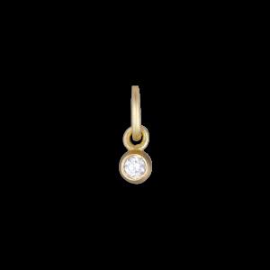 Brilliant pendant, 18 karat guld, 0,02 karat. diamant