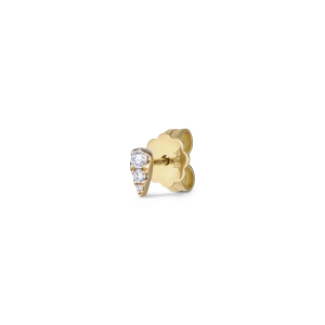 Drop ear stud, 18 karat guld, 0,11 ct. diamant