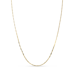 Corn chain necklace, 18 karat gull