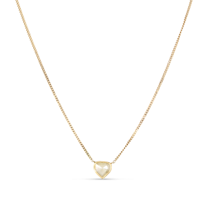 Panzer necklace chain with rose-cut diamond pendant, 18 karat gull