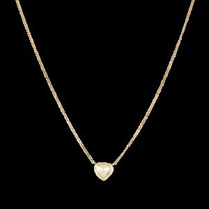 Panzer necklace chain with rose-cut diamond pendant, 18 karat guld