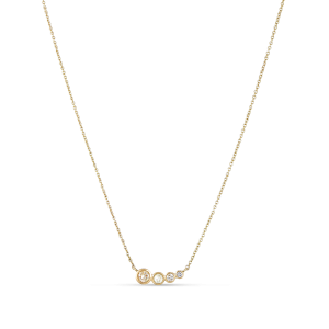 Necklace, four diamonds, 0.32 ct. diamonds, 18-karat gold