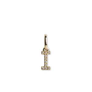Letter Pendant with Diamonds, 18 karat gull