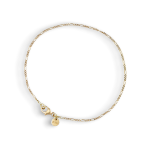 Figaro Panzer bracelet, 18 karat gull