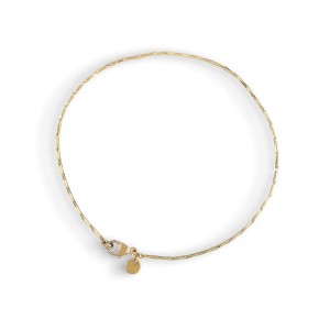 Corn chain bracelet, 18 karat gold