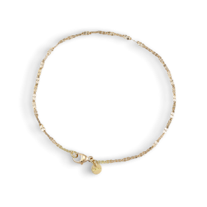 Navette bracelet Flowers, 1,6 mm, 18 Karat gold