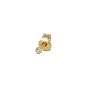 Ear stud, 18 Karat Gold, 0.01 ct. brilliant