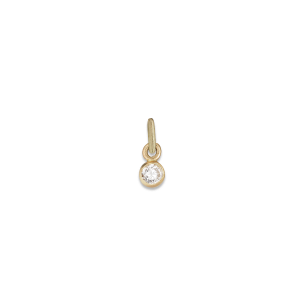 Brilliant pendant, 18 karat gull, 0.02 ct. diamant