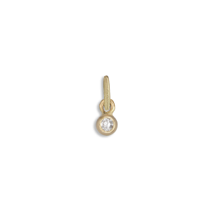 Brilliant pendant, 18 karat gull, 0.03 ct. diamant