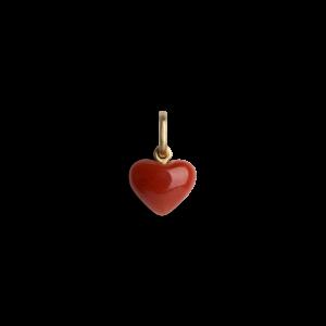 Coral Heart vedheng, 18 karat gull
