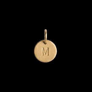 Kombination af ankerkæde og small Lovetag vedhæng, 18 karat guld