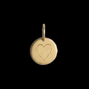 Kombination af Palmedia kæde og medium Lovetag vedhæng, 18 karat guld