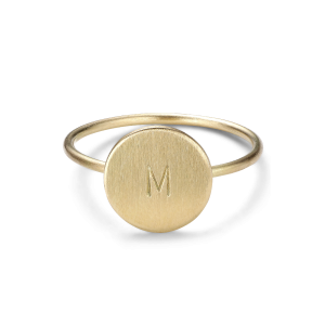 Medium Lovetag Ring, 18 karat gull