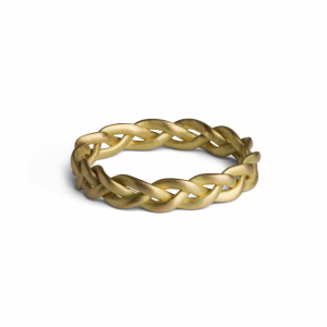 Medium Braided Ring, 18 karat guld