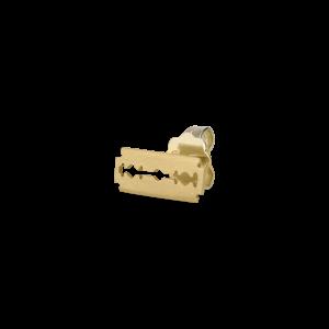 Razor stud, 18-carat gold