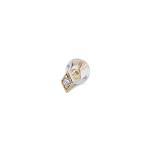Rhomb ear stud, 18-carat gold, 0.05 ct diamond