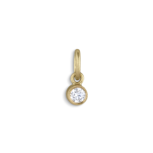 Pendant, 0.05 carat diamond, 18 carat gold