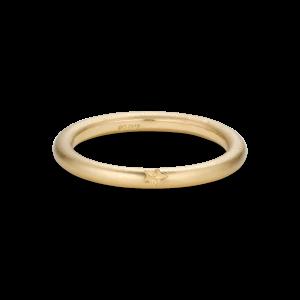 Stjernegraveret ring, 18 karat guld