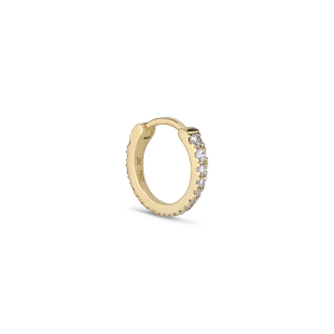 Tiny diamond hoop, 18 Karat gold