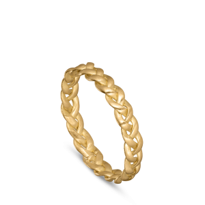 Small Braided Ring, 18-carat gold