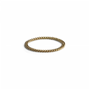 Small Chain Ring, 18 karat gull
