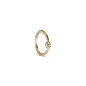 Twist earring, 18 karat guld, 0.01 ct diamant